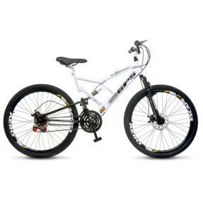 Bicicleta Mountain Bike Colli Bikes 21 Marchas Aro 26 Suspensão Full Suspension Freio a Disco Mecânico Full-S GPS 220