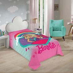 Imagem de Manta Fleece Infantil Menina Barbie Reinos Mágicos Com 01 Peça