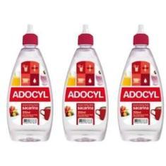 Adocyl Sacarina Adoçante Líquido 100ml (Kit C/03)