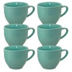 Imagem de Jogo 6 Xícara Chá Café Verde 170Ml Porcelana