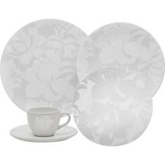 Aparelho de Jantar Redondo de Porcelana 20 peças - Coup Blanc Oxford Porcelanas