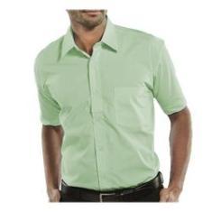 Imagem de Camisa Social Manga Curta 100% Microfibra Masculina Verde Claro