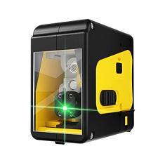 Imagem de Baugger Luz verde/ (opcional) Ferramenta portátil de nível de laser de alta precisão de 2 linhas Linha horizontal multifuncional Função de autonivelamento de 3 ° Nível de laser externo para