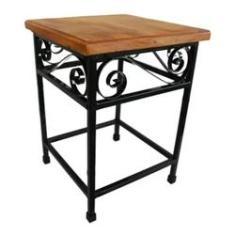 Imagem de Banco de madeira rustico para jardim em detalhes arabesco um luxo