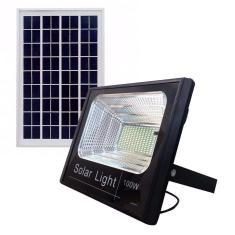 Imagem de Refletor Holofote Led Solar Com Placa Completa Branco Frio 100w