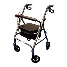 Imagem de Andador Alumínio Dobrável De 4 Rodas Assento E Cesta Mobil