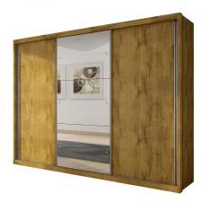 Guarda-Roupa Casal 3 Portas 6 Gavetas com Espelho Paradizzo Gold Siena Móveis