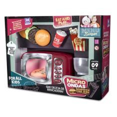 Imagem de Micro-ondas De Brinquedo Sandwich Chef C/ 9 Peças -zuca Toys