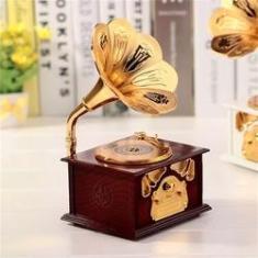 Imagem de Caixa de Música Porta Joias Vitrola Musical Gramofone