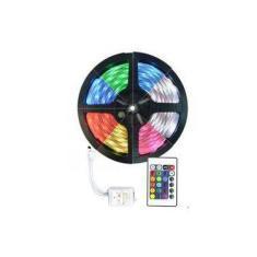 Fita De Led 5050 Rgb Colorida Com Controle Ip20 Interna