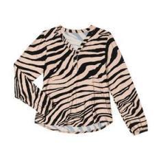 Imagem de Blusa Feminina Plus Size Animal Print Rovitex Plus Bege