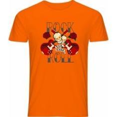 Imagem de Camiseta Poly Laranja Rock In Roll