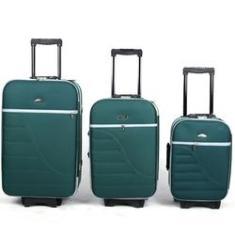 Imagem de Kit Conjunto 3 Malas De Viagem Com 8 Rodinhas Verde - Verde