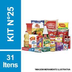 Imagem de Cesta Básica De Alimentos E Higiene C/ 31 Itens