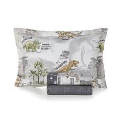 Imagem de Colcha Matelasse Casal Infantil Menino Dinossauros Karsten  Percal 180 fios 3 peças 100%algodão