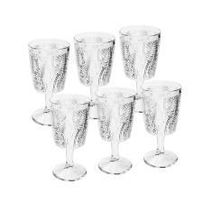 Imagem de Jogo de taças em vidro Bon Gourmet Leaves 320ml 6 peças