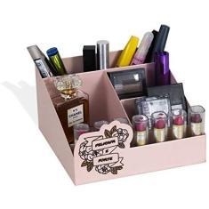 Imagem de Organizador Porta Maquiagem Com Divisórias Delicada e Forte