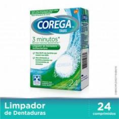 Imagem de Corega Tabs 3 Minutos Limpador De Dentaduras C/24 Cpr Eferv