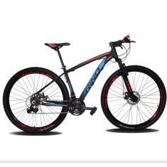 Bicicleta Mountain Bike Shimano MTB 24 Marchas Aro 29 Suspensão Dianteira a Disco Mecânico RINO EVEREST COLOR