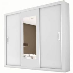 Guarda-Roupa Casal 3 Portas 4 Gavetas com Espelho Bahia Carioca Móveis