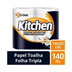 Imagem de Papel Toalha Kitchen Total Absorv 140 Folhas