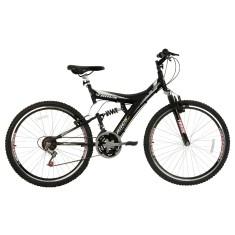 Bicicleta Mountain Bike Track & Bikes 18 Marchas Aro 26 Suspensão Full Suspension Freio V-Brake TB 300