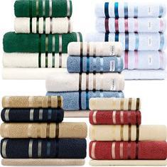 Imagem de Jogo de toalhas Banhão Gigante Karsten Lumina 5 Peças - Fio Penteado - Emcompre