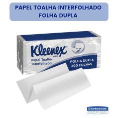 Imagem de Papel Toalha Interfolhado Kleenex Folha Dupla 200 Folhas Alta Absorção