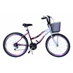 Bicicleta Dalannio Bike 18 Marchas Aro 26 Freio V-Brake Beach
