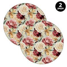 Imagem de Sousplat Mdecore Floral 32x32cm Verde 2pçs