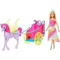 Imagem de Boneca Barbie Dreamtopia Princesa Com Carruagem Mattel