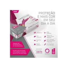 Imagem de Luva Latex Rosa Pink Unigloves Com Pó Caixa C 100 UNDS TAMANHO EP
