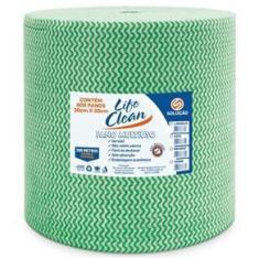Imagem de Pano Multiuso Verde Rolo com 30 x 300m Life Clean