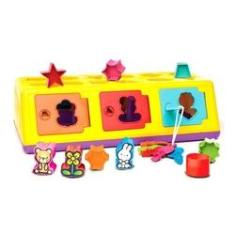 Imagem de Brinquedo para Bebe Eduvativo Caixa Encaixa Estrela Baby