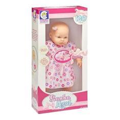 Imagem de Boneca Bebê Sonho  120 Frases Com Vestido Cotiplás 2072