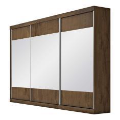 Guarda-Roupa Casal 3 Portas 4 Gavetas com Espelho Milano 3E Móveis Europa