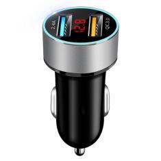 Imagem de Acendedor de cigarros portátil de carro duplo USB com tela LED