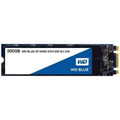 SSD WD Blue, 500GB, M.2, Leitura 560MB/s, Gravação 530MB/s - WDS500G2B0B