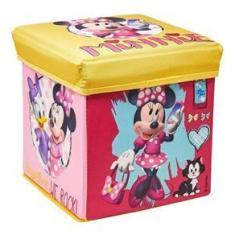 Imagem de Banquinho Dobrável Infantil Porta Objetos Disney Puff Caixa Organizadora