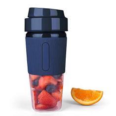 Imagem de Sunbaca Liquidificador portátil Juicer Cup Mini Smoothies Maker Liquidificador recarregável Tamanho pessoal Liquidificador Proteção de segurança Copo de viagem