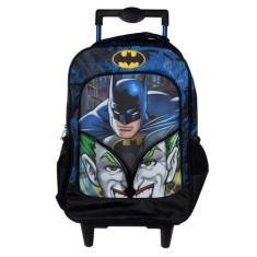 Mochila com Rodinhas Escolar Xeryus Batman Mind Games 16 6180