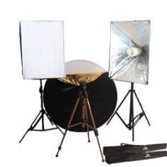 Imagem de Estúdio Fotográfico de Moda Luz Continua Softbox c/ Rebatedor -