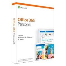 Office 365 Personal - Licença Anual para 1 usuário 1 PC ou Mac + 1 Tablet ou Smartphone - QQ2-01017