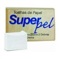 Imagem de Papel Toalha 20 X 21cm Creme Superpel C/ 1000 Folhas 2dbs