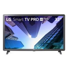 "Smart TV LED 32"" LG ThinQ AI HDR 32LM621CBSB 3 HDMI"