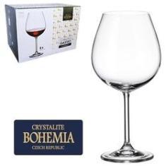 Imagem de Jogo De Taca De Cristal Para Vinho Bordeau Com 6 Unidades Gastro Bohemia 650ml