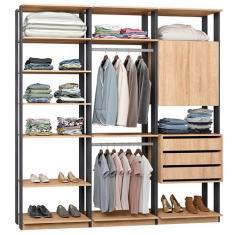 Imagem de Guarda-Roupa Closet 3 Gavetas 9009 Clothes Be Mobiliário