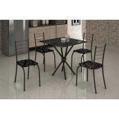 Imagem de Mesa com 4 Cadeiras Para Cozinha Ipanema Teixeira