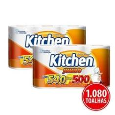 Imagem de Kit Papel Toalha Folha Dupla Kitchen Jumbo 1.080 Folhas Promoção