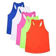 Imagem de Kit 5 Camisetas Regatas Femininas Dryfit (, royal, Verde fluor, laranja fluor, pink)